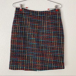 Kate Spade Woven Multicolor Pencil Skirt